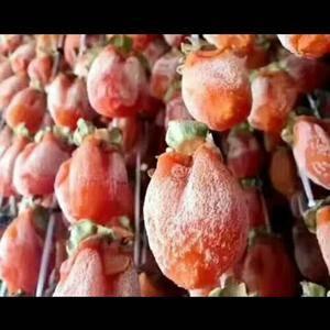 【只有陕西富平的柿饼,才是流心的甜❗】 复杂的的古法晾...