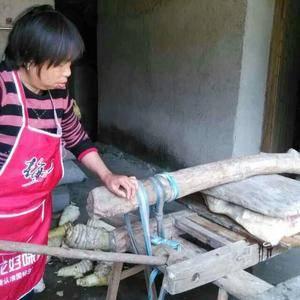 传统手工制作野生笋干
